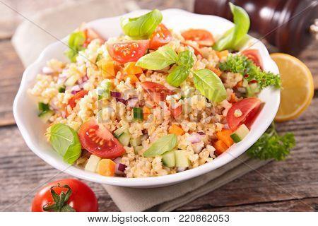 vegetarian tabbouleh and herb