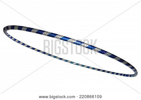 The hula Hoop silver with blue . plastic equipment for sport