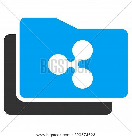 Ripple Purse flat vector icon. An isolated ripple purse design element on a white background.
