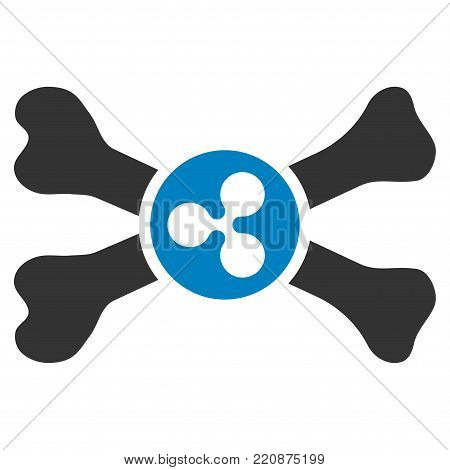 Ripple Death flat vector icon. An isolated ripple death symbol on a white background.