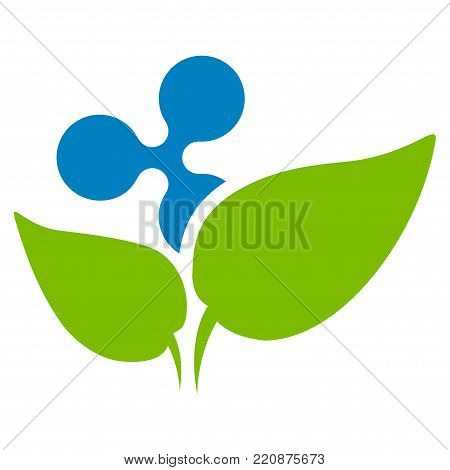 Ripple Startup Sprout flat vector icon. An isolated ripple startup sprout design element on a white background.