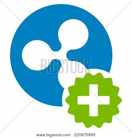 Create Ripple Coin flat vector icon. An isolated create ripple coin symbol on a white background.
