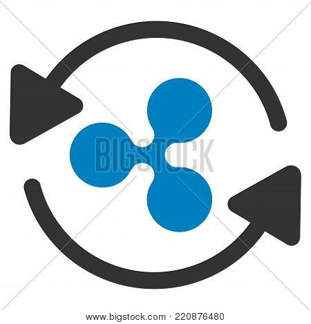 Refresh Ripple flat vector icon. An isolated refresh ripple icon on a white background.