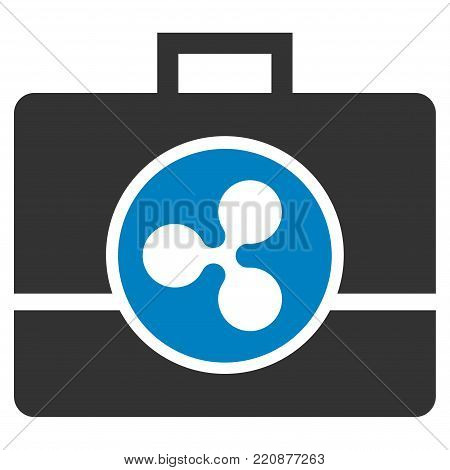Ripple Business Case flat vector icon. An isolated ripple business case icon on a white background.