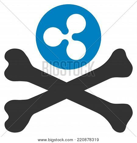 Ripple Death flat vector icon. An isolated ripple death illustration on a white background.