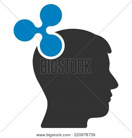 Ripple Imagination flat vector icon. An isolated ripple imagination illustration on a white background.