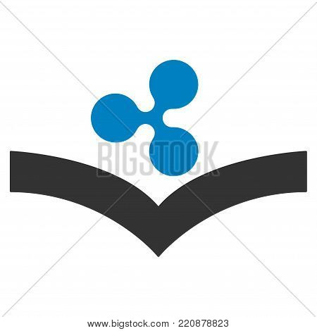 Ripple Knowledge flat vector icon. An isolated ripple knowledge design element on a white background.