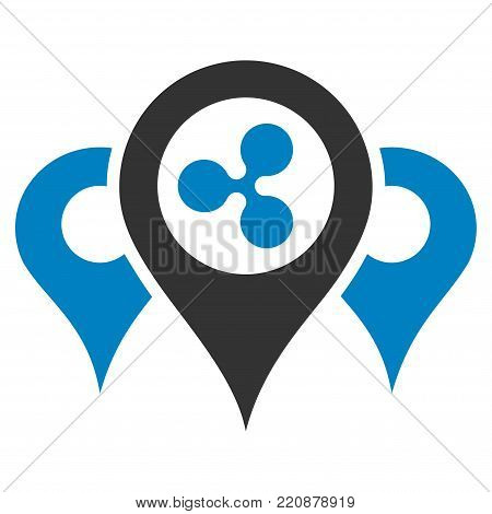 Ripple Locations flat vector icon. An isolated ripple locations illustration on a white background.