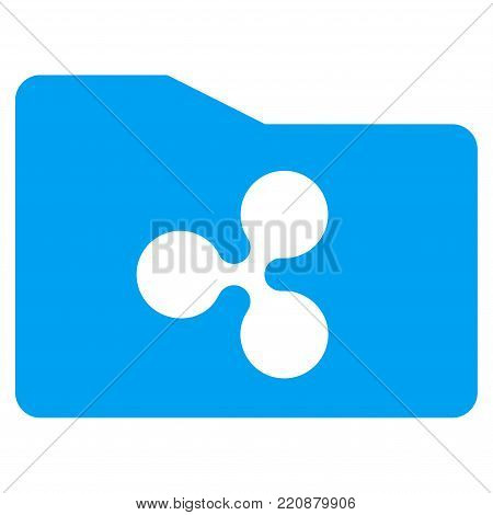 Ripple Purse flat vector icon. An isolated ripple purse symbol on a white background.