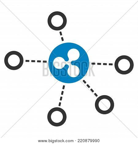 Ripple Relations flat vector icon. An isolated ripple relations design element on a white background.