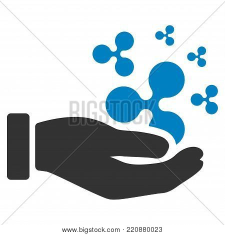 Ripple Salary Hand flat vector icon. An isolated ripple salary hand illustration on a white background.