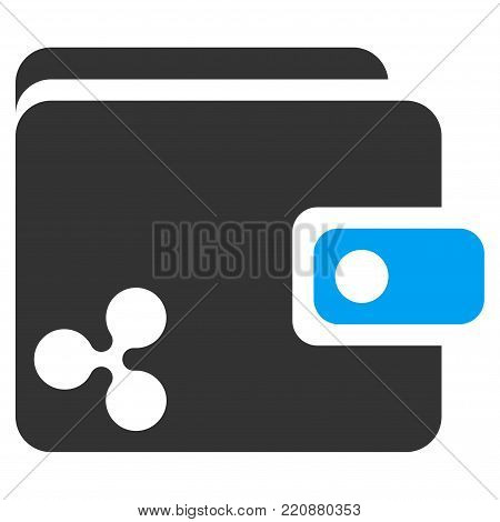 Ripple Wallet flat vector icon. An isolated ripple wallet pictogram on a white background.