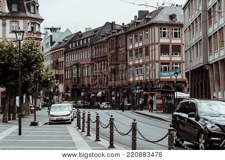 Frankfurt, Germany - July 03, 2017: Old Architecture In Frankfurt City, Germany.