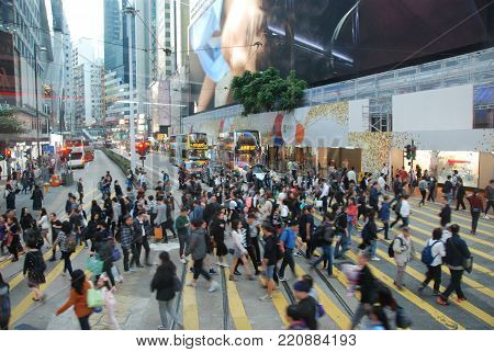 Daily life of millions of people in Hong Kong