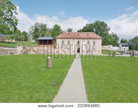 monastery garden, broumov monastery of the order of st. benedict