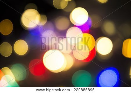 Fairy Lights Bokeh, With Beautiful Patterns And Colours