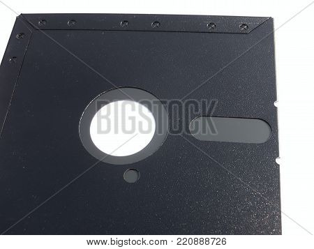 5 25 inch Floppy disk placed side by side flip isolated on white background abstract selective focus