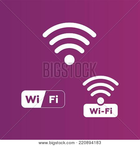 Wireless And Wifi Icons. Wireless Network Symbol Wifi Icon. Wire