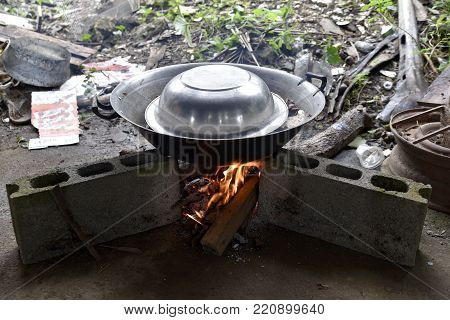 Filipino Traditional Cuisine Cooking Style In The Garden