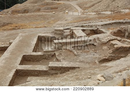 The Archeological Excavation in Jericho. Palastine. Israel