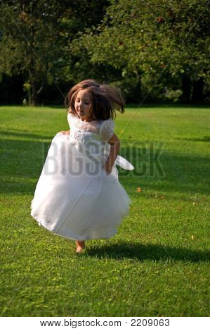 Running Flower Girl