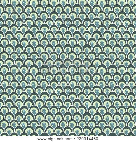 Doodle pattern like fish scale. Texture for web, prints, wallpaper, home decor, textile, invitations or website.