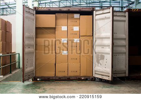 The Loading and unloading Out of container