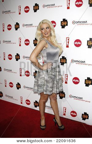 PASADENA - JAN 5: Holly Madison at the Comcast Entertainment Group TCA Cocktail Reception held at the Langham Hotel, Pasadena, California on January 5, 2011