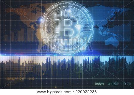 Futuristic Bitcoin Wallpaper
