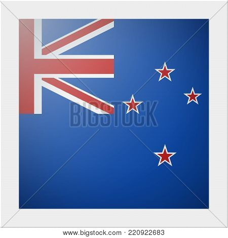 Oceania zone flag collection with photo of New Zealand flag , vector , illustration