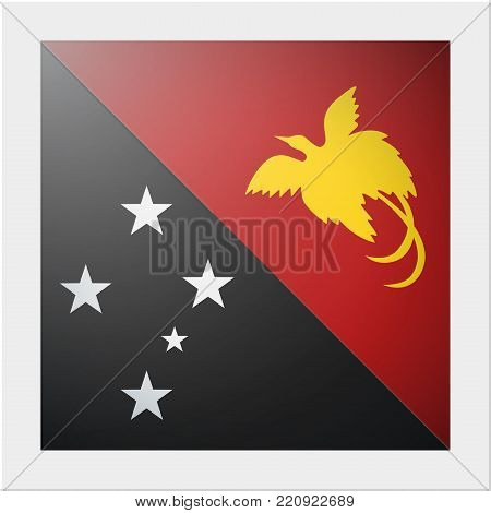 Oceania zone flag collection with photo of Papua New Guinea flag , vector , illustration