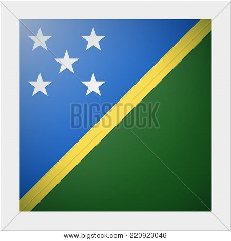 Oceania zone flag collection with photo of Solomon Islands flag , vector , illustration