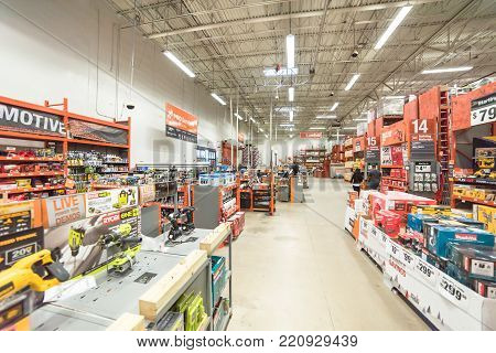 Inside View Of A Home Depot Retail Store
