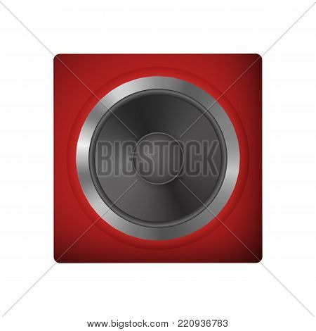 Audio speakers for a netbook. Loudspeaker vector illustration. Icon audio system.