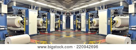 Machines Of A Large Printing Plant - Printing Of Daily Newspapers