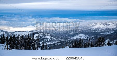 The snowboarders and skiers enjoy this beautiful view whil descending down the slopes of Blacktail Mountain.