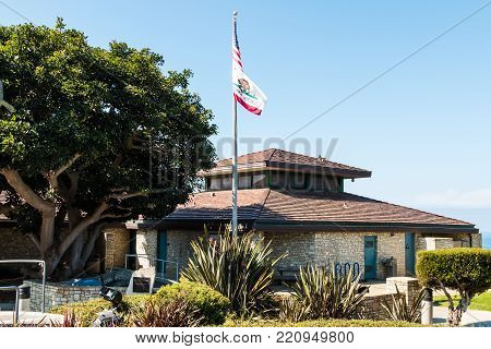 Rancho Palos Verdes, California - September 9, 2017:  The Point Vicente Interpretive Center Features