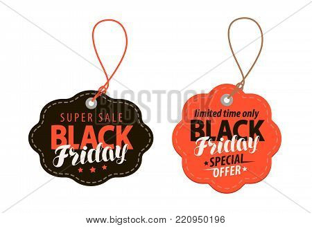 Black Friday concept. Sale, shopping, offer cheap price banner