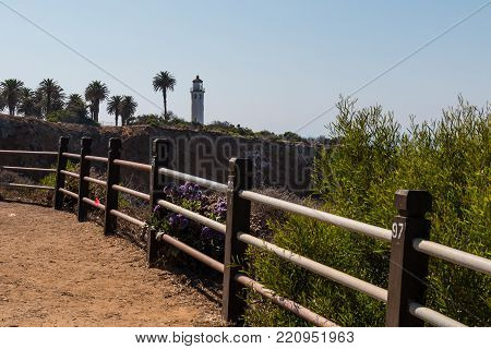 Rancho Palos Verdes, California - September 9, 2017:  The Seascape Trail At The Point Vicente Interp