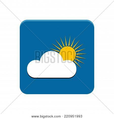Weather app button on a white background, Vector illustration