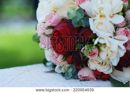 The Bride's Bouquet. Wedding Bouquet. A Bouquet