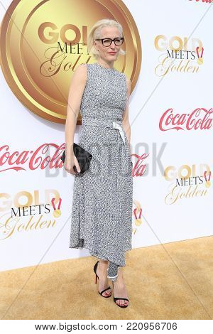LOS ANGELES - JAN 6:  Gillian Anderson at the GOLD MEETS GOLDEN: The 5th Anniversary at the House on Sunset on January 6, 2018 in Los Angeles, CA