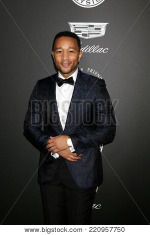 LOS ANGELES - JAN 6:  John Legend at the The Art of Elysium presents John Legend's HEAVEN at Barker Hanger on January 6, 2018 in Santa Monica, CA