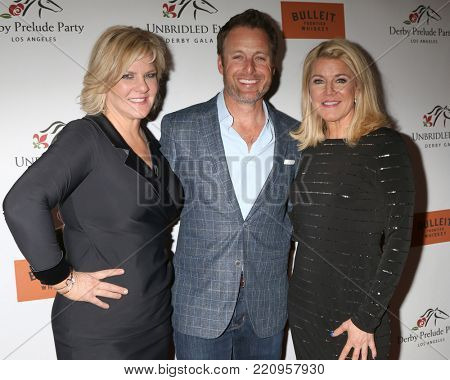 LOS ANGELES - JAN 5:  Tammy York Day, Chris Harrison, Tonya York Dees at the Unbridled Eve Derby Prelude Party Los Angeles at the Avalon on January 5, 2018 in Los Angeles, CA