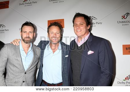 LOS ANGELES - JAN 5:  Graham Bunn, Chris Harrison, Bob Guiney at the Unbridled Eve Derby Prelude Party Los Angeles at the Avalon on January 5, 2018 in Los Angeles, CA