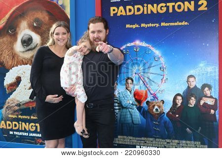 LOS ANGELES - JAN 6:  AJ Buckley, family at the