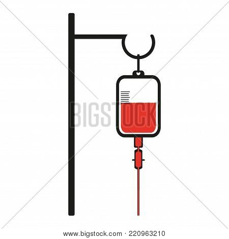 Vector illustration of blood transfusion systems on a white background