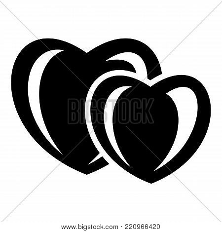 Heart love icon. Simple illustration of heart love vector icon for web
