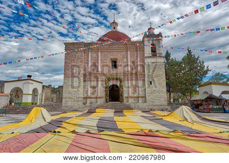 Church of San Pablo in Mitla an archeological site in the state of Oaxaca Mexico