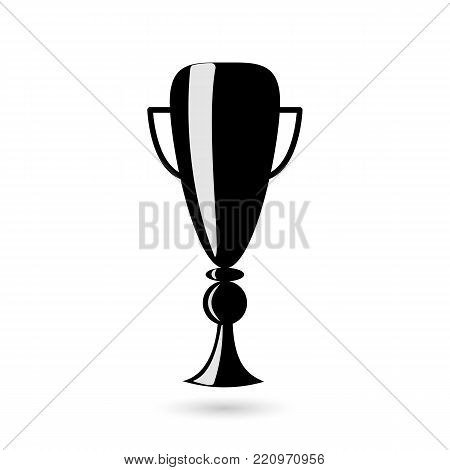 Reward the cup. Icon black on white background